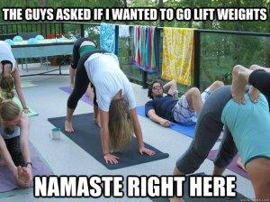namaste yoga meme